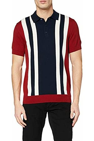 Ben Sherman Men's Colour Block Knit Polo Shirt
