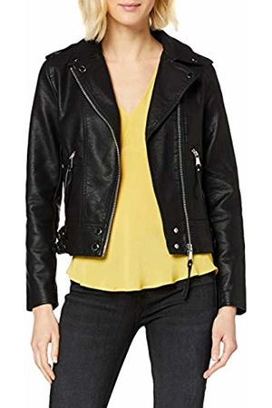 warehouse Women's PU Biker Faux Leather Jacket