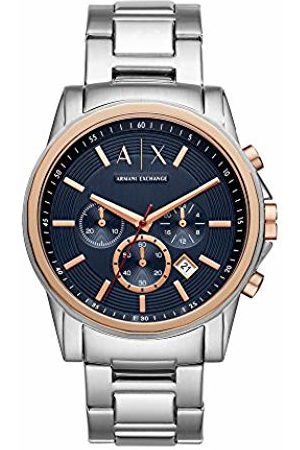 Armani Mens Chronograph Quartz Watch with Stainless Steel Strap AX2516