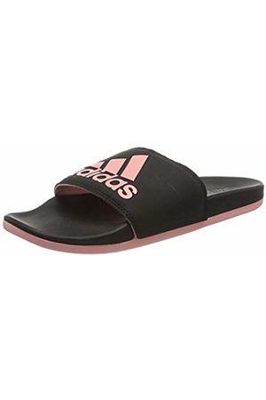 adidas Women's Adilette Comfort Sandal, Core /Glory /Core