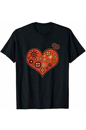 STEAMPUNK GIFTS FOR MEN WOMEN OUTFIT Steampunk Clockwork Heart Mechanical Gear Fantasy Gift T-Shirt