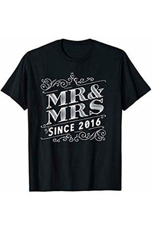 Wowsome! Mr & Mrs Since 2016 - 4th Wedding Anniversary Matching Gift T-Shirt