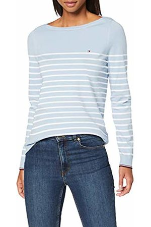 Tommy Hilfiger Women's New Ivy Boat-NK SWTR LS Sweatshirt, (Classic /Breezy SWT 0Le)
