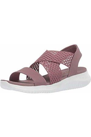 Skechers Women's Ultra Flex - NEON Star Sling Back Sandals, (Mauve Gore/Mitobuck Trim Mve)