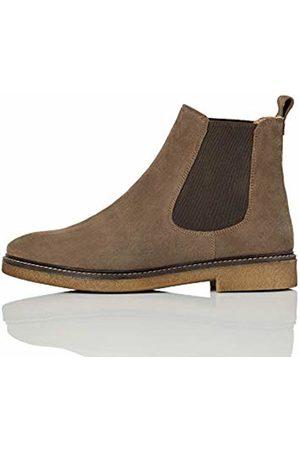 FIND Gumsole Chelsea Boots, Grau (Almond Suede)