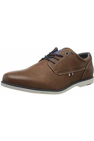 TOM TAILOR Men's 8080702 Oxfords, (Cognac 00205)