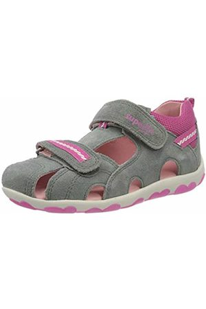 Superfit Baby Girls' Fanni Sandals, (Grau/Rosa 25)