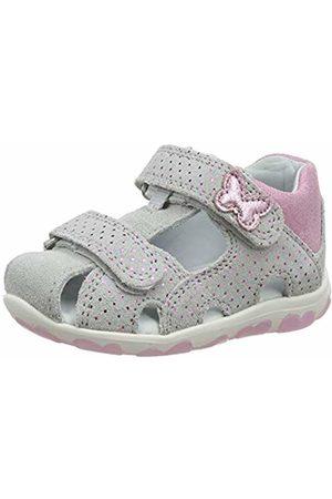 Superfit Baby Girls' Fanni Sandals, (Hellgrau/Rosa 25)