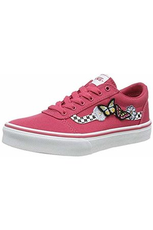 Vans Girls' WARD CANVAS Sneakers, ((Butterflies) Claret / Wg4)