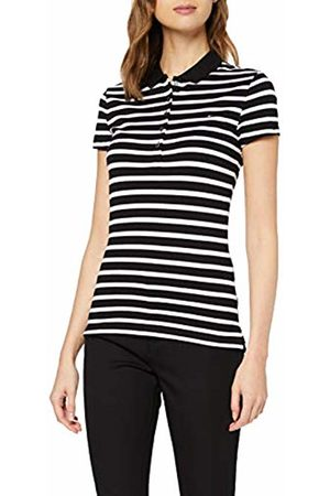 Tommy Hilfiger Women's Short Sleeve Slim Polo Stripe Shirt, (Breton STP- / 0Ar)