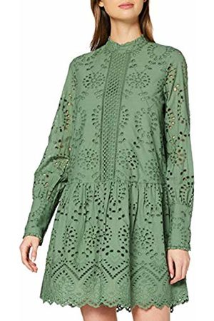 Vero Moda Women's Vmperfect Emb L/s Short Dress Sb2