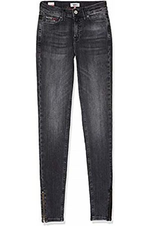 Tommy Hilfiger Women's Nora MID Rise SKNY ANK Zip JRVBK Straight Jeans