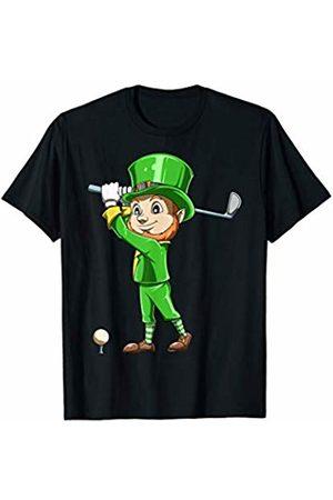 IrishTale Co. St. Patrick's Day Golf Leprechaun Playing Golf Irish Golfers T-Shirt