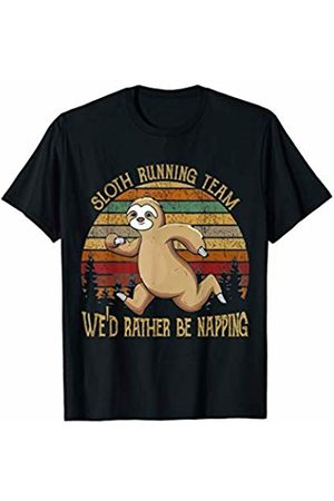 Funny Sloth Gift Sloth Running Team We Would Rather Be Napping T-Shirt