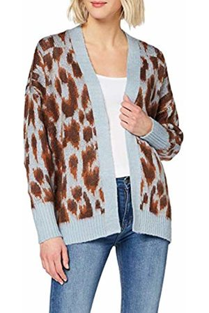 warehouse Women's Brushed Animal Cardigan Sweater