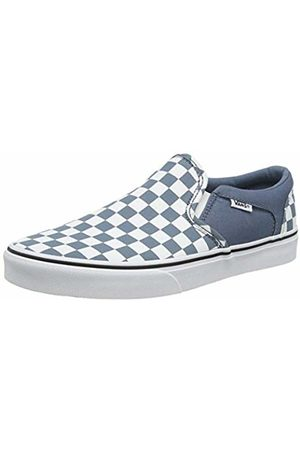 Vans Men's Asher Slip On Trainers, ((Checkerboard) Mirage/ W50)