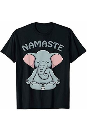 AdnDesigns Co. Funny Elephant Yoga Apparel & Gifts Elephant Yoga Gifts Funny Elephant Namaste Hatha Yoga T-Shirt