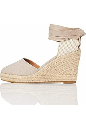 FIND Wedge Close Toe Canvas Espadrille Sandal