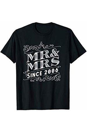 Wowsome! Mr & Mrs Since 2006 - 14th Wedding Anniversary Matching Gift T-Shirt