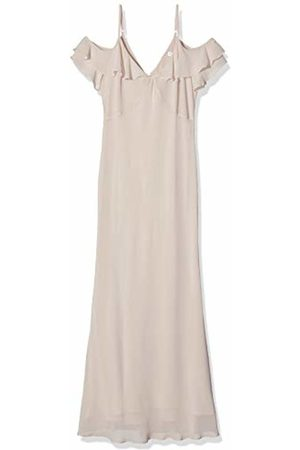 warehouse Women's Cold Shoulder Button Back Maxi Dress Bridesmaid