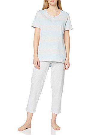 Schiesser Women's Anzug 7/8 Lang, 1/2 Arm Pyjama Set