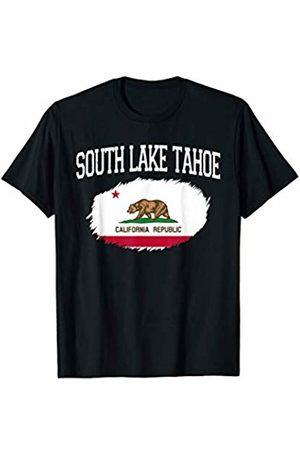 America Love Varsity Style CA Proud Home City Gift SOUTH LAKE TAHOE CA CALIFORNIA Flag Vintage Sports Men Women T-Shirt