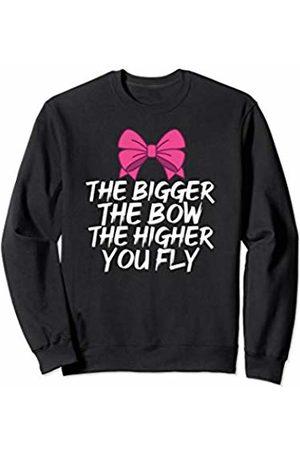 Epic Love Designs Funny Cheerleading Flyer Cheerleader Bow Sweatshirt