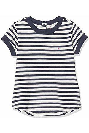 Tommy Hilfiger Girl's Essential Stripe TOP S/S T - Shirt, ( /Twilight Navy 0FB)