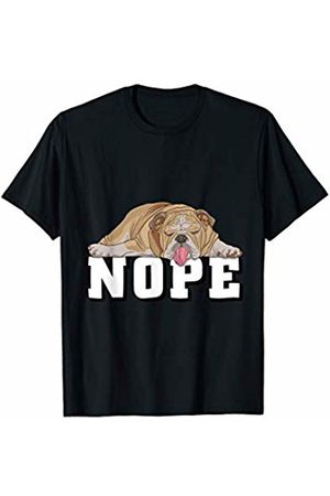 Wowsome! Nope Lazy English Bulldog Dog Lover Gift T-Shirt