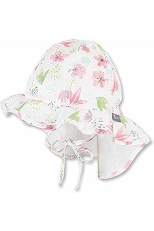 Sterntaler Baby Girls' Sun hat with Neck Protection (Ecru 908)