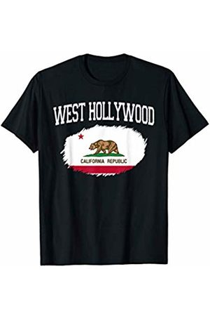 America Love Varsity Style CA Proud Home City Gift WEST HOLLYWOOD CA CALIFORNIA Flag Vintage Sports Men Women T-Shirt