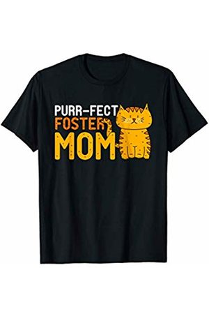 cat mother gift idea Purr-Fect foster mom gift idea for cat lover T-Shirt