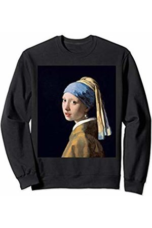 Famous Painting Girl with a Pearl Earring Vermeer Girl with a Pearl Earring by Johannes Vermeer Sweatshirt