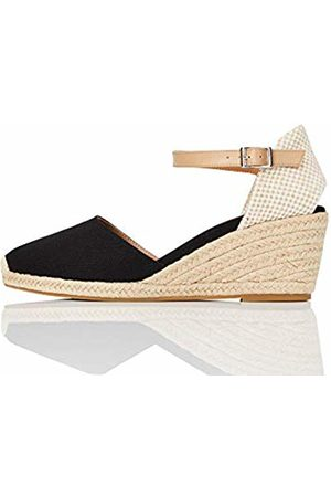 FIND Amazon Brand - Women's Wedge Close Toe Canvas Espadrilles Size: 4 UK