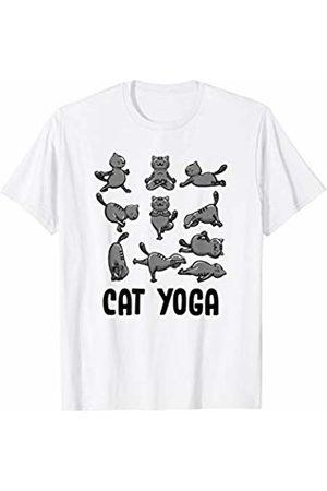 BoredKoalas Yoga Cat Yoga Poses Asanas Cute Yogic Exercise Yoga Lover Gift T-Shirt