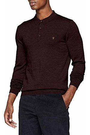 Farah Vintage Men's's Maidwell Polo Shirt (Bordeaux)
