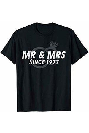 Wowsome! Mr & Mrs Since 1977 - 43rd Wedding Anniversary Matching Gift T-Shirt
