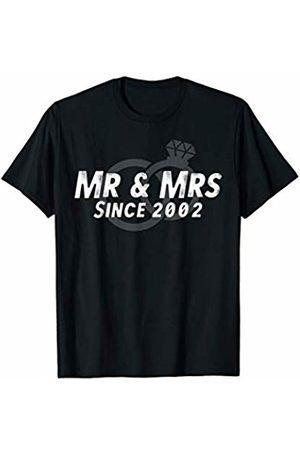 Wowsome! Mr & Mrs Since 2002 - 18th Wedding Anniversary Matching Gift T-Shirt