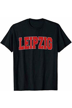 Deutschland Men Women Red Text Home Pride Gift LEIPZIG GERMANY Varsity Style Vintage Retro German Sports T-Shirt