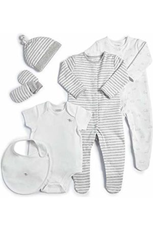 Mamas & Papas Baby Welcome to The World 6 Piece Layette White Clothing Set