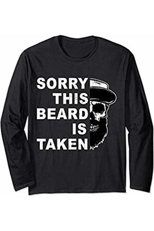 Bearded Man vintage Gifts Mens Sorry This Beard Is Taken Funny Gift for Bearded Man Long Sleeve T-Shirt