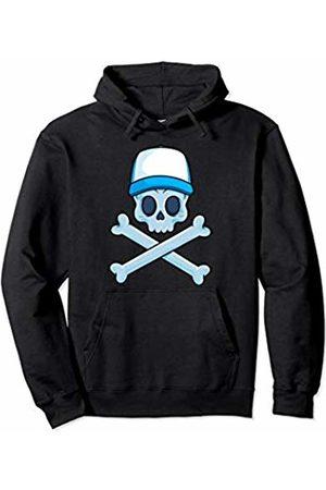 Jolly Roger Pirate Gift Store Jolly Roger Pirate Skull Crossbones Boy Skeleton Bones Boys Pullover Hoodie