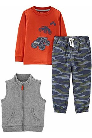 Simple Joys by Carter's 3-piece Vest, Long-sleeve Shirt, and Pant Playwear Set Tanks/Camo