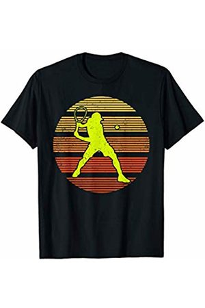 Vintage Retro Tennis Gift Sunset Tennis Sports Lover Gift Vintage Retro Tennis T-Shirt