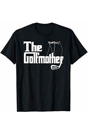 Funny Golfing Mom Golf Loving Gift Shops Golfer Mother Golf Lover White Funny Playing Golf Mom T-Shirt