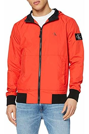 Calvin Klein Men's Hooded Blocking Nylon Jacket Bomber
