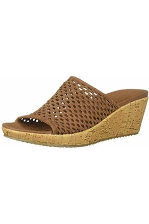 Skechers Women's Beverlee-Golden Sky Open Toe Sandals, ( Woven Textile BRN)