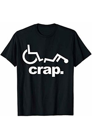 Miftees Handicap Wheelchair Funny Wheelchair Fall T-Shirt