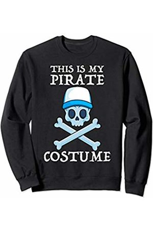 Jolly Roger Pirate Gift Store This Is My Pirate Costume Cruise Lazy Halloween Men Boys Sweatshirt