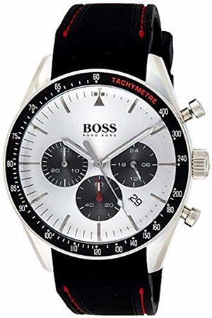 HUGO BOSS Mens Chronograph Quartz Watch with Silicone Strap 1513627